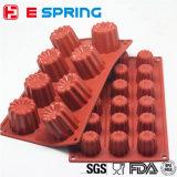 8 tazze della grande di Canneles muffa Bordelais del silicone hanno scanalato nel cassetto della muffa di cottura della torta