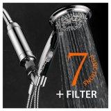特許を取られたオン/オフ休止スイッチおよびユニバーサル高性能2の段階Kdf/Cagのシャワーフィルターが付いている7設定の手持ち型のシャワー