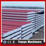 Linha de produção rolo do painel do telhado e de parede do sanduíche do EPS que dá forma ao preço da máquina