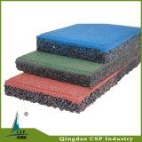 Tuile en caoutchouc en caoutchouc de tapis de carrelage de points colorés