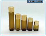 2ml 5/8 D-RAM bernsteinfarbige wesentliches Öl-Glasflasche mit Reduzierstück-Stecker und Aluminium-Schutzkappe