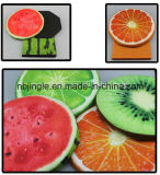 최신 판매! 저장 상자를 가진 과일 수박 디자인 둥근 접히는 오토만