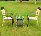 Tabelas e cadeiras de primeira qualidade ao ar livre do jardim do Rattan do PE do lazer