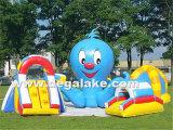 Curso de obstáculo inflável atrativo do polvo para miúdos