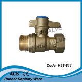 Válvula de bronze do medidor de água (V18-815)
