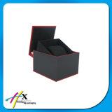 Stilvoller schwarzer Uhr-Schaukarton, Firmenzeichen-Zoll Uhr-verpackengeschenk-Kasten