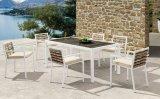 Jantar ao ar livre e jogo secional da mobília do Rattan do pátio do sofá