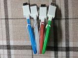 el 1m V8 androide universal para el cable micro del USB de los datos del cargador del teléfono móvil de Samsung que contellea LED