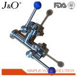 Válvula de borboleta sanitária do aço inoxidável 3way