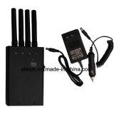 4 bandas 2G / 3G / 4G / WiFi Pantalla LED portátil Jammer Mostrar la capacidad de USB y conector de carga móvil