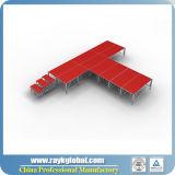 Aluminium-justierbares Höhen-Leistungs-bewegliches Stadium verwendetes Stadium für Verkauf