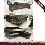 Hx-6m058 tiroirs d'acajou L vérouillable bureau de la couleur 3 de forme