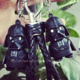 Star Wars-Schlüsselring-Licht-Schwarzes Darth Vader Anhänger LED Keychain