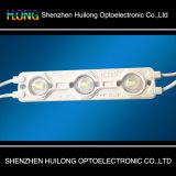 inyección LED Moduel de 1.5W LED con ángulo de la luz larga de la lente