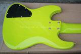 Нот Hanhai/бас дневных шнуров зеленого цвета 5 электрический с телом ольшаника