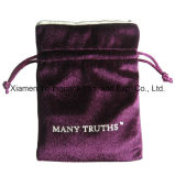 De alta calidad de la manera personalizada Pequeño poliéster tela de raso joyería bolsa de regalo