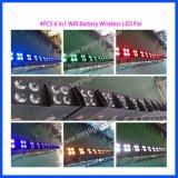 LED de la etapa de la batería PAR 4 PCS * 18W luz inalámbrica