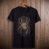 Personnaliser le T-shirt 100% de l'homme Drilling chaud de Sequin/de coton de qualité du collet rond