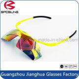 Clip caliente de Polariod de la vendimia en anteojos de seguridad al por mayor de ciclo de laser del tirón de las gafas de sol de la bici del diseñador de la marca de fábrica de China de los vidrios