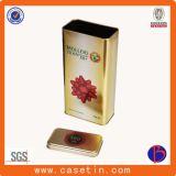 Großhandelszoll gedruckter Zinn-Kasten, runder Plätzchen-Zinn-Kasten