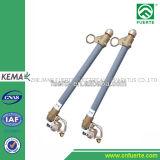 10kv à peça padrão do entalhe do fusível do IEC do suporte do fusível 38kv