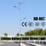 Luz de calle solar brillante estupenda sobre la luz solar al aire libre 120lm/W