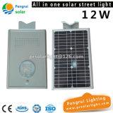 Lampe extérieure actionnée économiseuse d'énergie du mur DEL de panneau solaire de détecteur de DEL