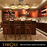 Mobilia classica della cucina di legno solido della quercia del paese del preventivo (Tivo-0052h)