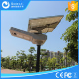 Réverbère à énergie solaire intelligent avec le panneau solaire réglable