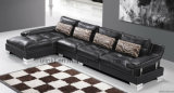 Muebles caseros de la esquina modernos de la sala de estar del cuero del sofá (UL-NSC164)