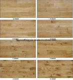 Suelo europeo de madera sólida del roble de la fábrica de Guangzhou