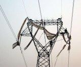 鋼管が付いている220kv送電線