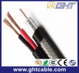 Samengestelde Siamese Coaxiale Kabel Rg59+2c (CCC ISO9001 van Ce RoHS)