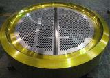 Les chicanes forées usinées de feuilles de tube d'A182 F316L ASTM A240 gr. 316L SS316 SS316L AISI 316 Supoport plaque l'acier inoxydable solides solubles 316L TubeSheets