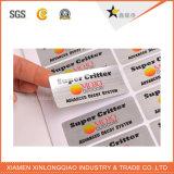 Contrassegnare la stampa autoadesivo di plastica di carta stampato codice a barre trasparente di prezzi