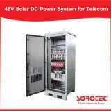 48VDC 220VAC Sistema de fuente de alimentación solar de la CC para la torre de las telecomunicaciones