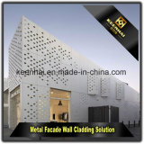Rivestimento perforato di alluminio della parete divisoria del taglio decorativo esterno del laser