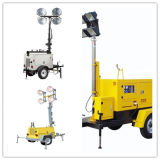 Gerador Towe claro móvel Ptlt-800A da gasolina da lâmpada do diodo emissor de luz