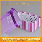 Boîte-cadeau de luxe de papier de vente en gros de prix usine de type de cadre de fantaisie pour des robes