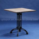 Квадратная таблица мебели трактира с деревянной верхней частью таблицы и ретро ногой таблицы типа (SP-RT564)