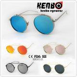 Último Fashion Metal Óculos de sol Km16145 Round Frame Without Nose Bridge