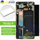 元の新しいOLEDの表示Samsungギャラクシーノート4 LCDのタッチ画面