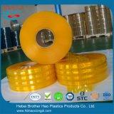 Het industriële Gordijn van de Strook van pvc van de Geribbelde 3mm Dikte van anti-Insect Gele Dubbele Plastic