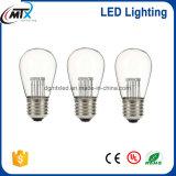 Bulbo con el alambre de la cadena, tipo al aire libre decorativo precio barato de la lámpara de la cadena del bulbo del LED del bulbo