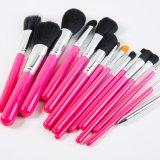 Le renivellement 15PCS cosmétique fabriqué à la main professionnel balaye des outils avec la monture filtre rose