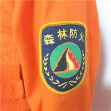 Workwear impreso anaranjado 100% de la fábrica del gris azul de la tela cruzada del algodón