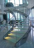 De hete Gebogen Trap van de Plaat van het Staal van de Verkoop Populaire Glas