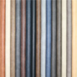 Exportado de alta qualidade resistente à abrasão em relevo couro sintético PU Móveis oleosa