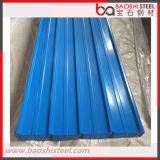 Folha de aço revestida da telhadura da cor ondulada azul da cor