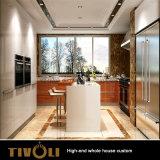 固体チェリーの食器棚の木製のベニヤのホーム家具のフルハウスの習慣Tivo-048VW